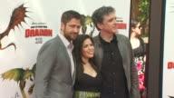 Gerard Butler America ferrera Craig Ferguson at the 'How To Train Your Dragon' Premiere at Universal City CA