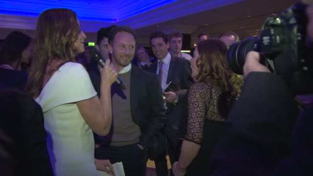 BROLL Geri Halliwell Christian Horner at Zoom F1 Charity Auction at InterContinental Park Lane Hotel on January 16 2015 in London England