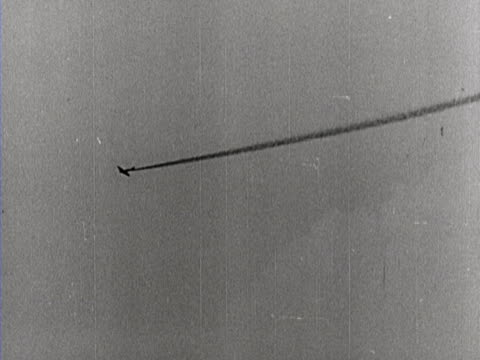 German airplanes attack Russian combat planes and bomb a train carrying war equipment