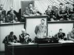 German Chancellor Adolf Hitler speaking to the Reichstag in Berlin