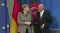 German Chancellor Angela Merkel and Afghanistans visiting President Ashraf Ghani have agreed to work jointly for stability in the South Asian country...