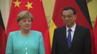German Chancellor Angela Merkel attends a meeting with Chinese Premier Li Keqiang at Beijing Hotel on June 13 2016 in Beijing China After meeting the...