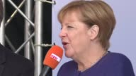 German Chancellor Angela Merkel holds a rally in Binz northern Germany as the countdown to next week's election continues