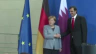German Chancellor Angela Merkel said at a meeting with the emir of Qatar Friday that Doha's crisis with Gulf neighbours will only be resolved through...