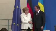 German Chancellor Angela Merkel says she welcomes European Commission chief JeanClaude Juncker's plan to relocate refugees from overstretched EU...