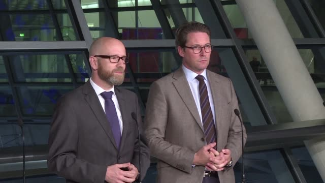 German Christian Democratic Union and their Bavarian allies meet the Greens and Free Democratic Party for the first time in Berlin to discuss the...