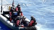 A German frigate named Werra rescued several dozen African migrants drifting in the Mediterranean sea on Saturday as part of the EU Navfor Med...