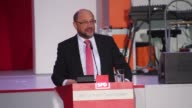 German Social Democratic Party leader and chancellor candidate Martin Schulz attends an election campaign event in Cologne Germany on September 21...
