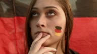 CU German team fans watch their team play against Ghana on the screen setup at the Word Cup FIFA Fan Fest during on Copacabana beach June 21 2014 in...