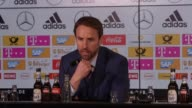 Postmatch press conference with England coach Gareth Southgate He talks about the positives which can be taken says he did not hear the chants of...