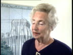 Reichstag art project INT Annely Juda interview SOT Christo and his wife live very modestly / everything goes on the project/ they are a bit neurotic...