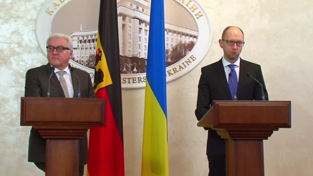 Germanys Foreign Minister Frank Walter Steinmeier met with Ukraines Prime Minister Arseniy Yatsenyuk on Tuesday saying the country must not return to...