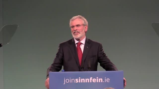 Gerry Adams has announced his intention to step down as Sinn Fein president in 2018