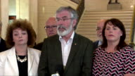Gerry Adams saying any deal which undercuts the Northern Irish political process or the Good Friday agreement 'has to be opposed' in relation to the...