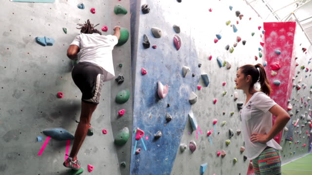 Getting Shown Indoor Climbing