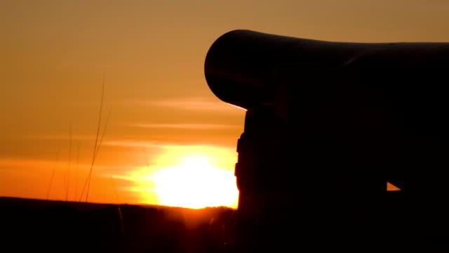 Gettysburg Cannon in Sunset