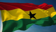 4K Ghana Flag - Loopable