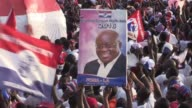 Ghana's main opposition candidate Nana Akufo Addo of the New Patriotic Party holds a final campaign rally ahead of December 7 polls where he is...