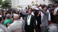 Ghanas Supreme Court on Thursday upheld President John Dramani Mahamas win in elections last year dismissing the oppositions case alleging voter...