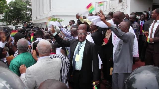 Ghanas Supreme Court on Thursday upheld President John Dramani Mahamas win in elections last year dismissing the oppositions case alleging voter...