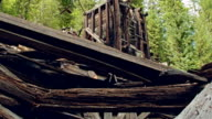 Ghost town gold mine Oregon Old abandoned wooden mining shack interior