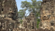 PAN / Giant stone face tower of Bayon temple