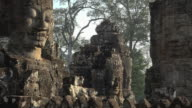 Giant stone faces of Bayon temple