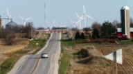 Giant windpowered turbines near the intersection of I35 and US Highway 20 near Blairsburg Iowa According to the US Department of Energy Iowa is a...
