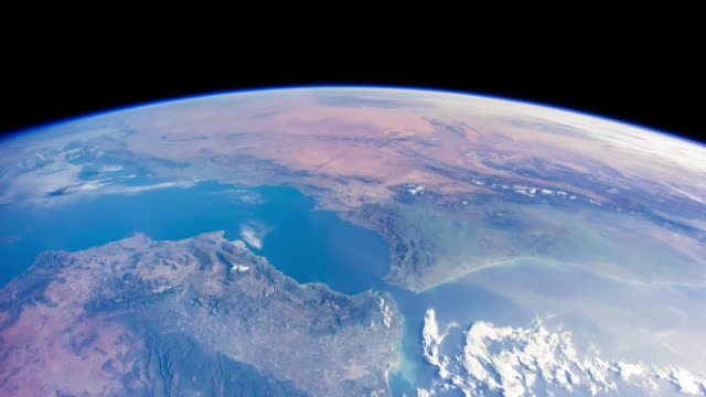 Gibraltar and Africa from Space - Timelapse