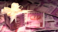 Gift box of indian two thousand banknotes