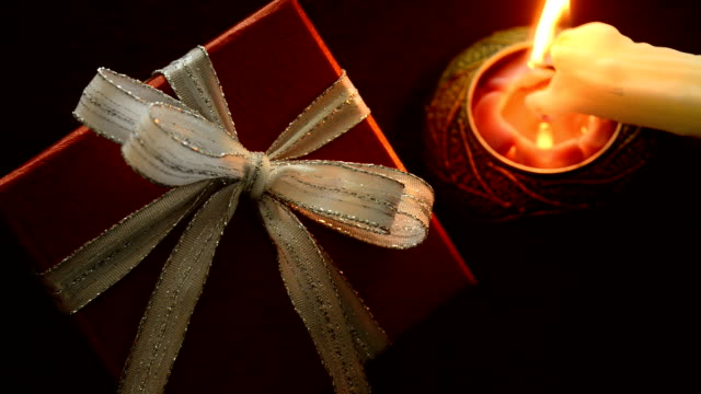 Gift box with candle