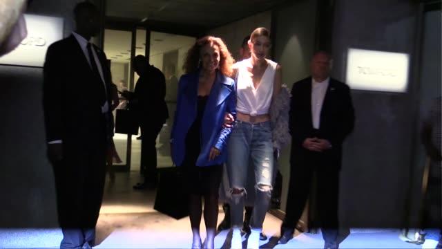 Gigi Hadid Diane Von Furstenberg and Zayn Malik at Tom Ford Fashion Show in New York New York City NY USA on Wednesday September 7 2016