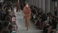Gigi Hadid Lily Donaldson Isabeli Fontana Natasha Poly Halima Aden Elsa Hosk and more models on the runway for the Max Mara Ready To Wear fall winter...