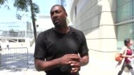 INTERVIEW Gilbert Arenas talks about Zack Randolph getting busted for weed in LA outside the BIG3 at Staples Center in Los Angeles in Celebrity...