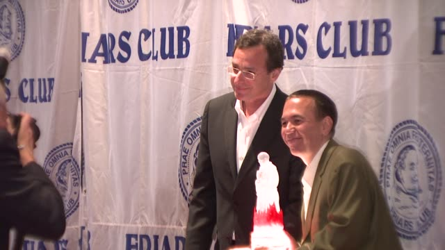 Gilbert Gottfried and Bob Saget at the Friars Club Roast of Matt Lauer at New York NY