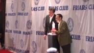 Gilbert Gottfried and Bob Saget at the Friars Club Roast of Matt Lauer at New York NY