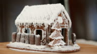 Gingerbread house. Looped movie.
