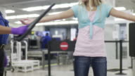 MS Girl (10-11) being searched by airport security / Jacksonville, Florida, USA