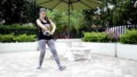 Girl dancing freestyle.