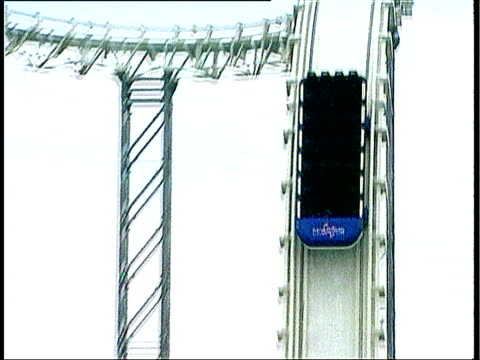 Girl dies after falling from ride ITN Pembrokeshire Oakwood Empty carriage of Hydro rollercoaster shooting down steep decline into water