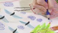 HD: Girl Drawing Idyllic Home