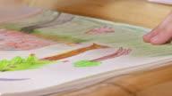 HD: Girl Drawing Trees