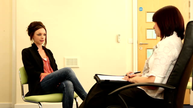 Girl in Counselling / Therapy session - psychiatrist
