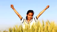 Girl in the Field of Wheat