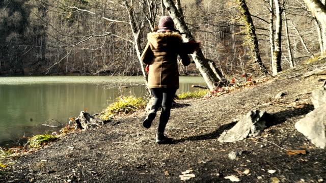 HD: Girl Jogging near the Lake
