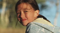 girl looking at camera