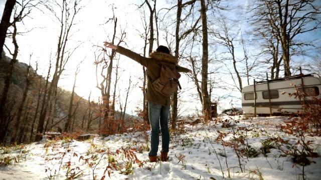 Girl loves winter