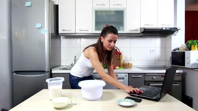 Girl preparing food