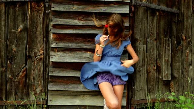 Girl smoking electronic cigarette