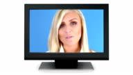 Girl Speaking on TV